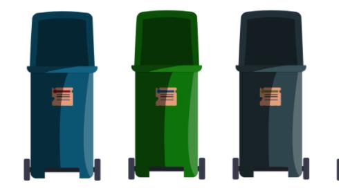 5 poubelles
